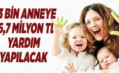 83 BİN ANNEYE 36,7 MİLYON TL YARDIM YAPILACAK
